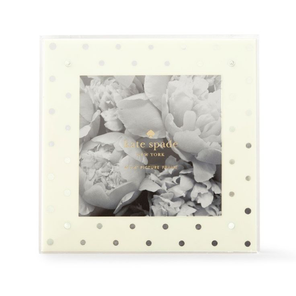 Moon and Lola - Kate Spade Silver Dot Acrylic Picture Frame