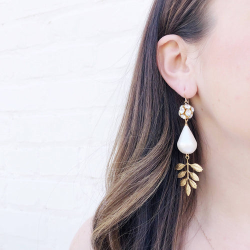 Moon and Lola - Lynbrook Leaf Earrings