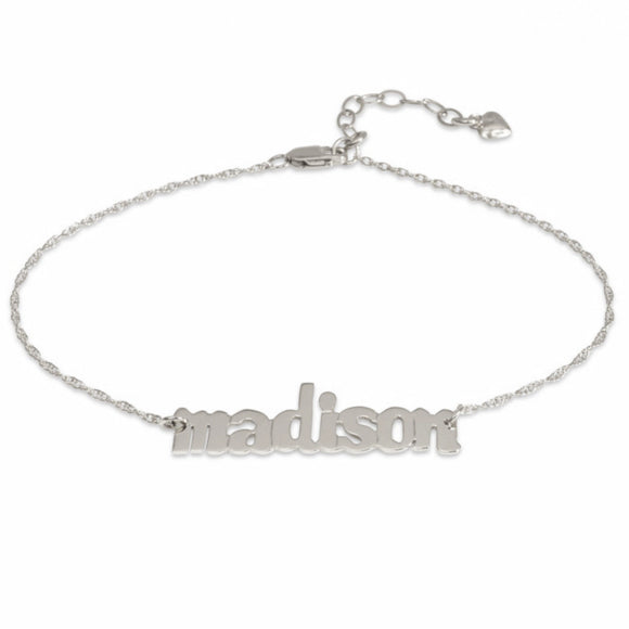I found this at #moonandlola - Metal Nameplate Bracelet