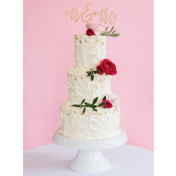I found this at #moonandlola! - Mr & Mrs Cake Topper on Tall Cake