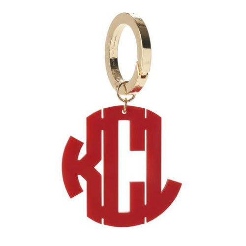 I found this at #moonandlola! - Monogram Purse Clip in Block Font