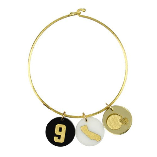 Moon and Lola Nora Bangle Varsity Number Charm State Charm and Helmet Charm