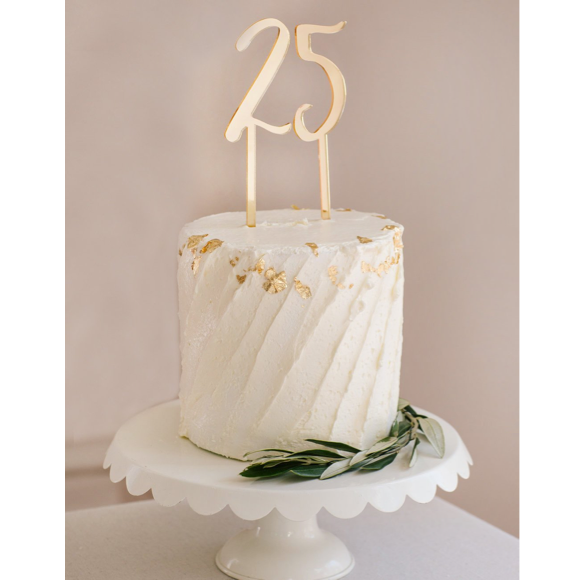 I found this at #moonandlola! - Number Cake Toppers on Cake
