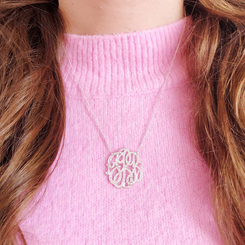 Moon and Lola - Omiya Diamond Monogram Necklace