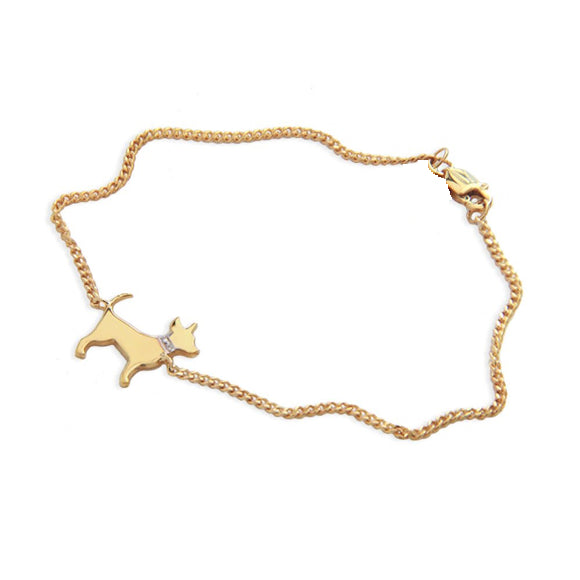 Moon and Lola - Petit Bijou Bracelet With Diamonds on the pet collar