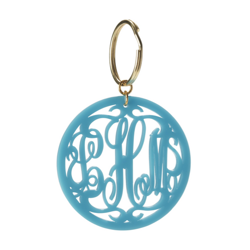 I found this at #moonandlola! - Monogram Key Chain in Rimmed Script Font