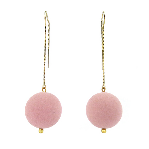 Moon and Lola - Lazare Earrings in Rose Pink