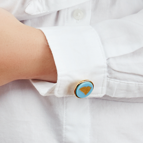 Moon and Lola - State Round Cuff Links