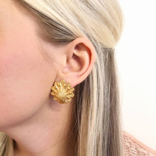 Moon and Lola - Salla Gold Post Earrings Small