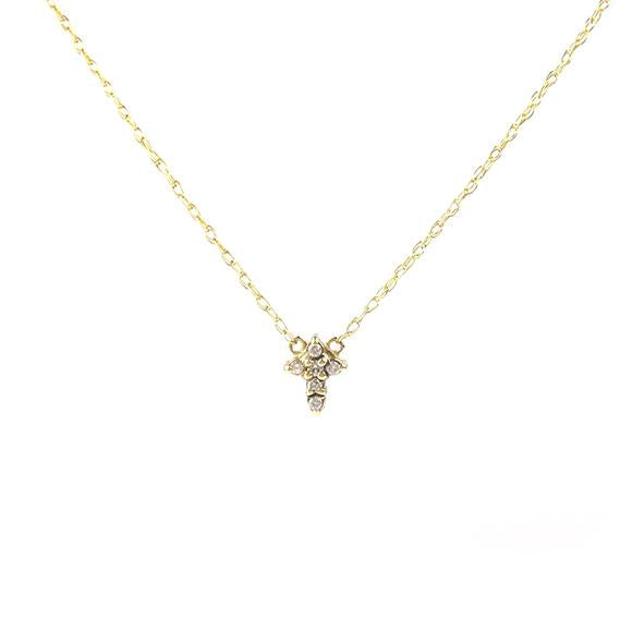 Moon and Lola - Mini Cross Diamond Necklace