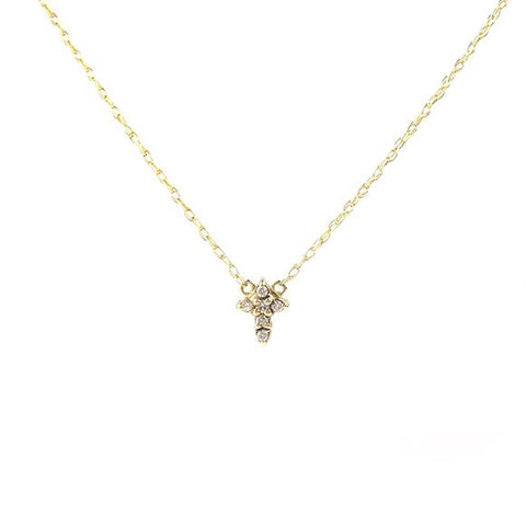 Petit Bijou Pierced Disc Diamond Necklace