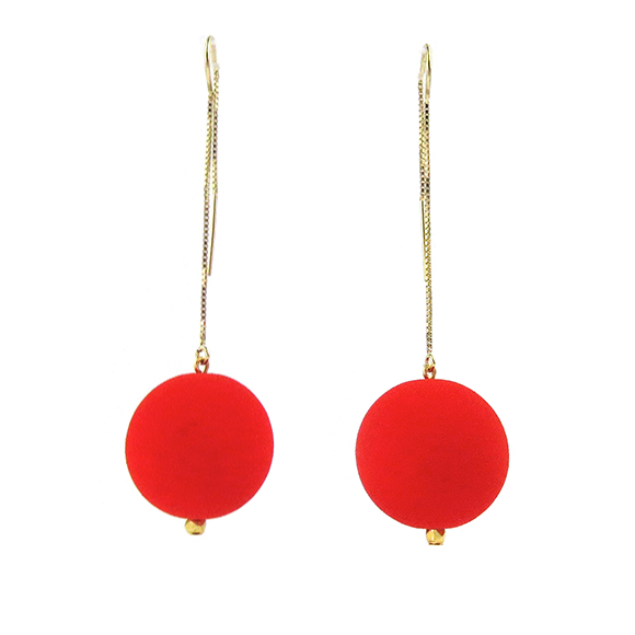Moon and Lola - Lazare Earrings in Vermillion Red