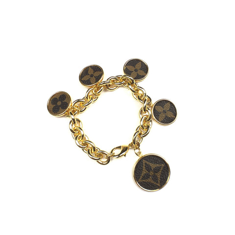 Leone Black Embossed Hatherly Bracelet