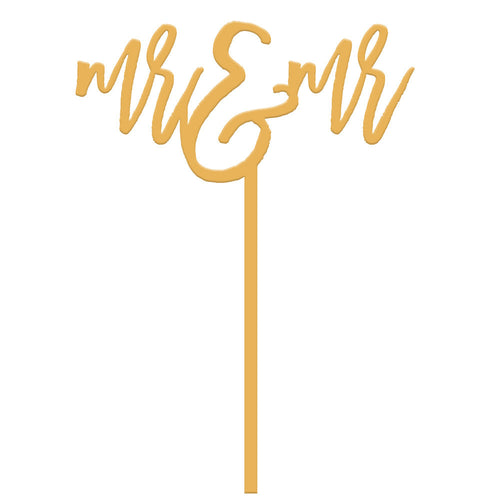 I found this at #moonandlola! - Mr and Mr Cake Topper in Antique Gold