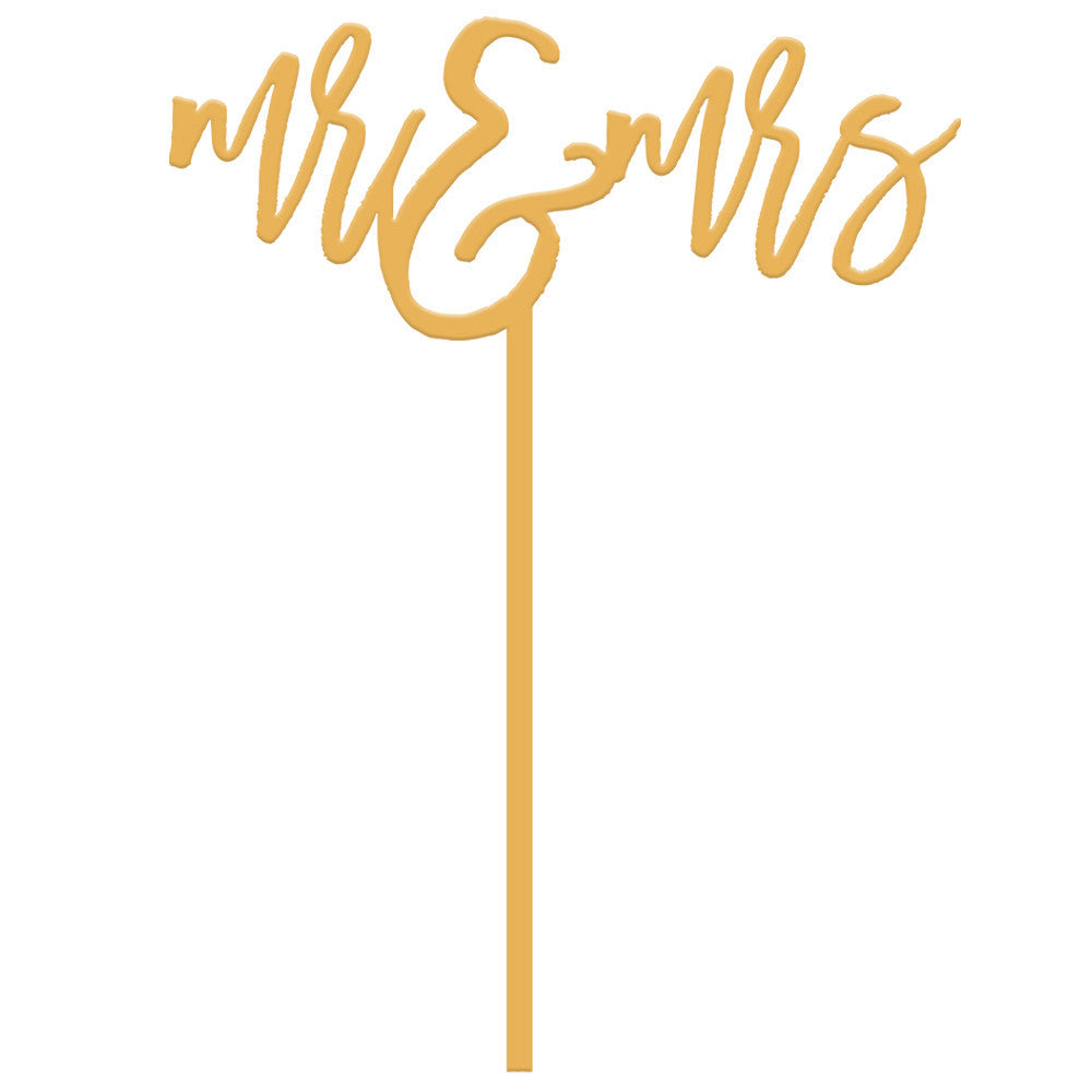 I found this at #moonandlola! - Mr & Mrs Cake Topper in Antique Gold