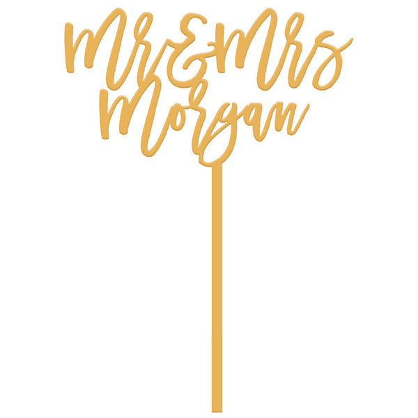I found this at #moonandlola! - Mr & Mrs Custom Cake Topper