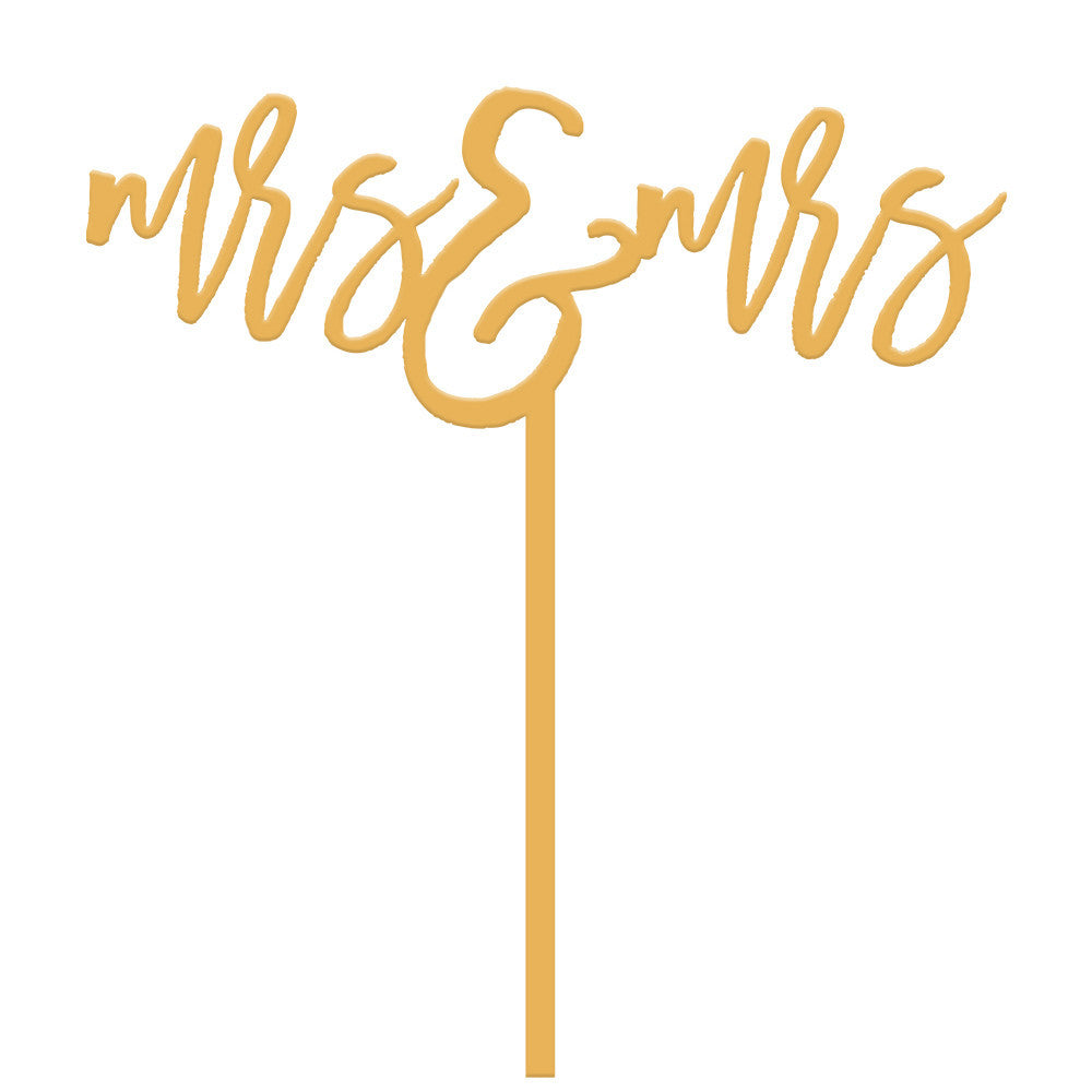 I found this at #moonandlola! - Mrs and Mrs Cake Topper in Antique Gold