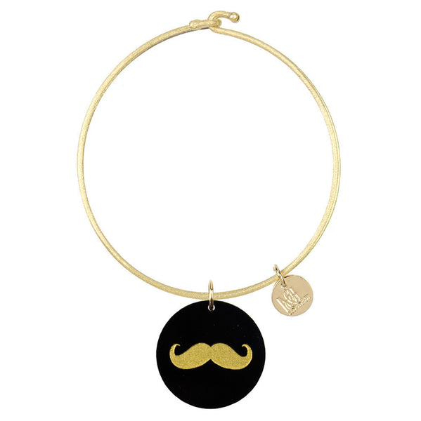 Moon and Lola - Eden Mustache Charm Bangle