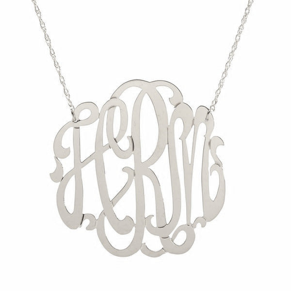 I found this at #moonandlola - Metal Script Monogram Necklace
