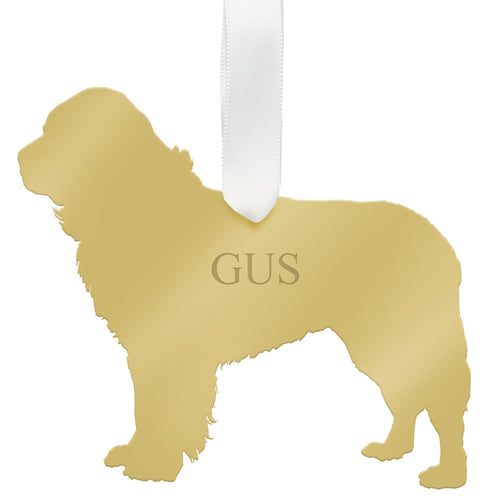 I found this at #moonandlola! - Personalized Newfoundland Ornament Mirrored Gold