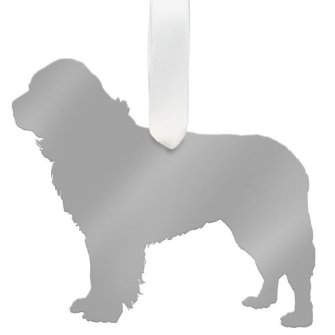 Moon and Lola - Newfoundland Ornament Mirrored Gold