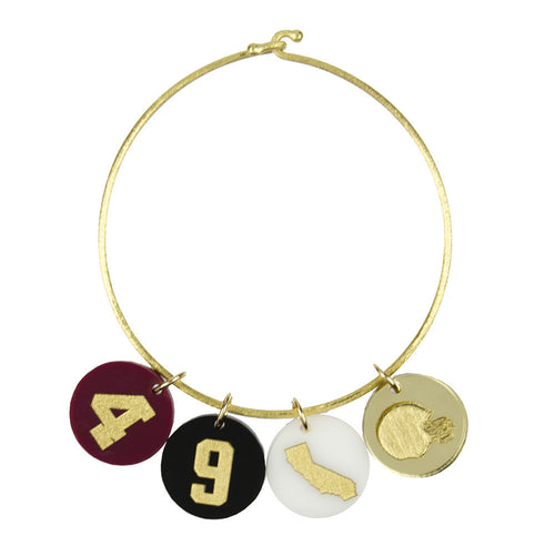 I found this at #moonandlola! - Varsity Number Charm on Nora Bangle