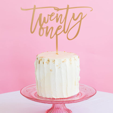 I found this at #moonandlola! - Number Cake Topper - Word