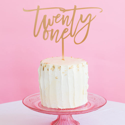 I found this at #moonandlola! - Number Cake Topper Twenty One on Cake