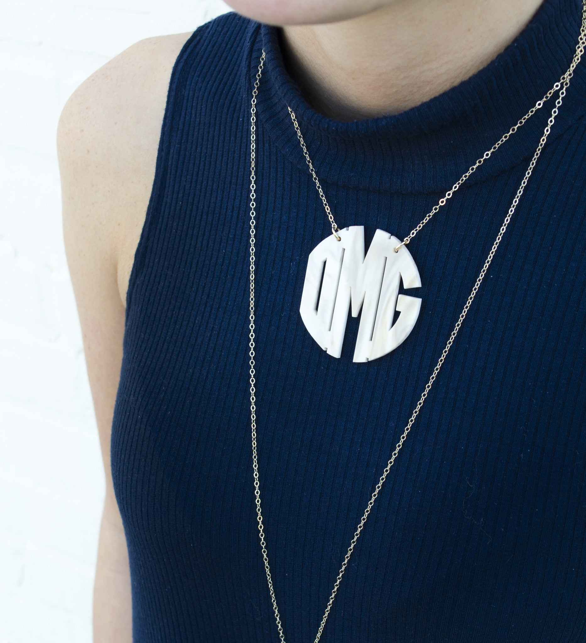 I found this at #moonandlola! - Nice Monogram Necklace