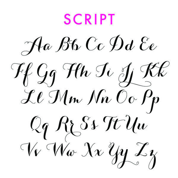 I found this at #moonandlola! - Script Font Sheet