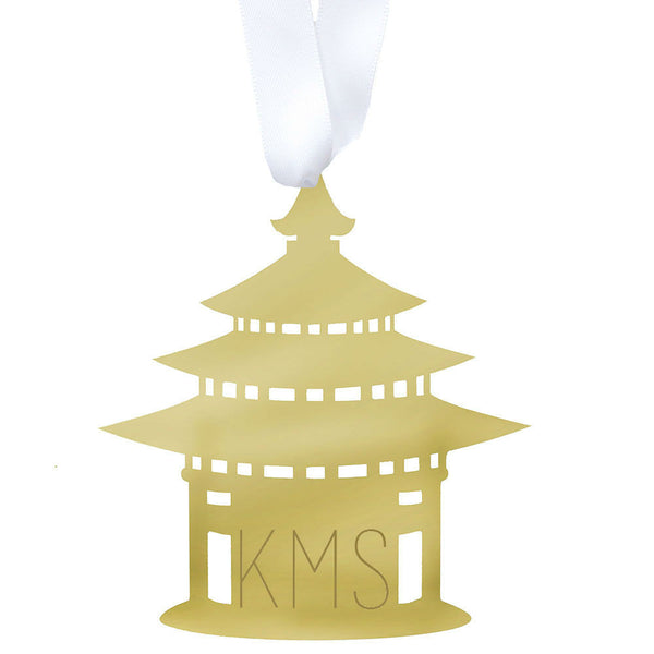 Moon and Lola - Pagoda Ornament with Monogram