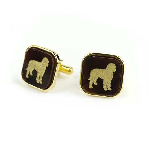 "Sample ""DCH"" Vineyard Square Cuff Link, Stacked"