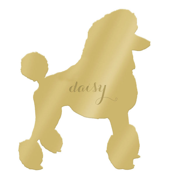 Moon and Lola - Pet Wall Art Poodle with Script Font