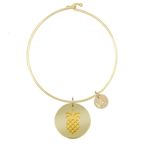 I found this at #moonandlola! - Eden Pineapple Charm Bangle