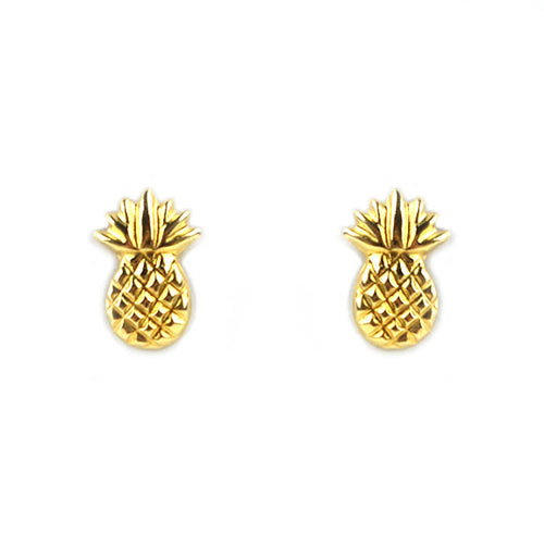Moon and Lola - 14K Fina Pineapple Studs