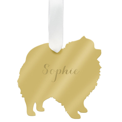 I found this at #moonandlola! - Personalized Pomeranian Ornament