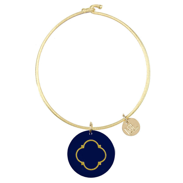 Moon and Lola - Eden Quatrefoil Charm Bangle