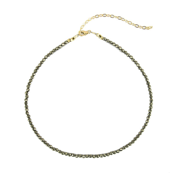 I found this at #moonandlola! - Rhea Choker Necklace Pyrite