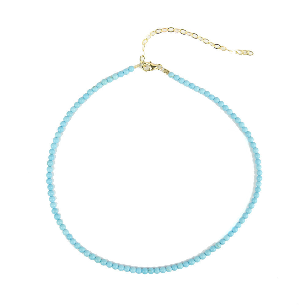 I found this at #moonandlola! - Rhea Choker Necklace Turquoise