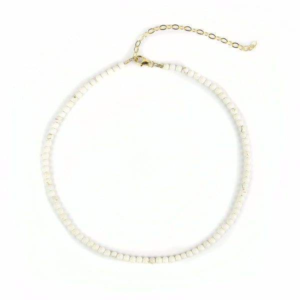 Moon and Lola - Rhea Choker Necklace White Turquoise