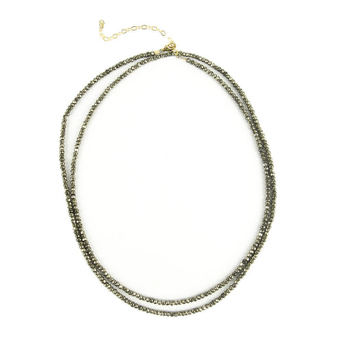I found this at #moonandlola! - Rhea Necklace Pyrite