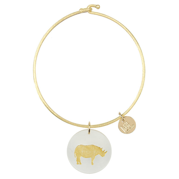 I found this at #moonandlola! - Eden Rhino Charm Bangle