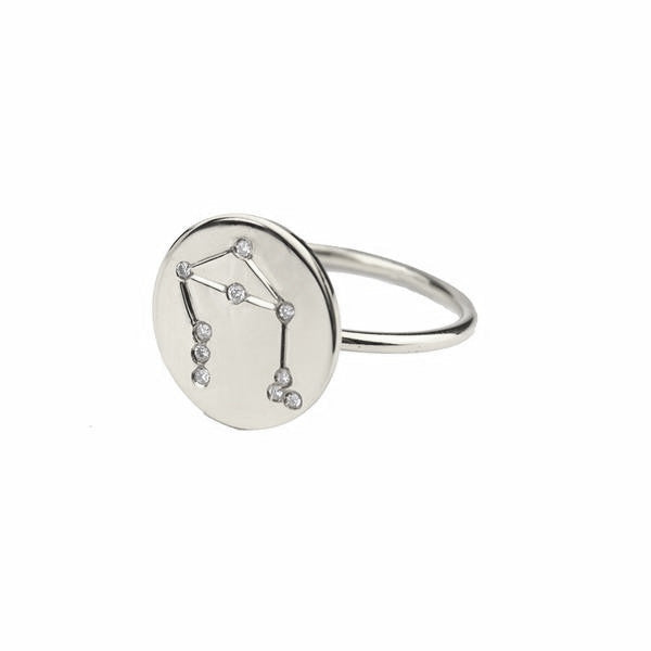 Sterling Silver Metal Constellation Ring - #moonandlola