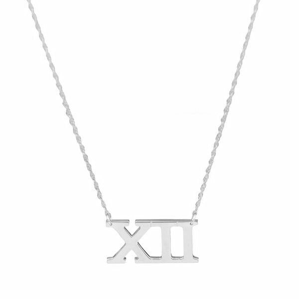 I found this at #moonandlola - Metal Roman Numeral Necklace