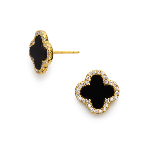 I found this at #moonandlola! - Rowan Studs available in Gold Pearl, Gold Ebony and Silver Pearl