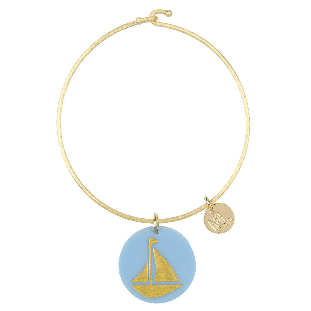 I found this at #moonandlola! - Eden Sailboat Charm Bangle