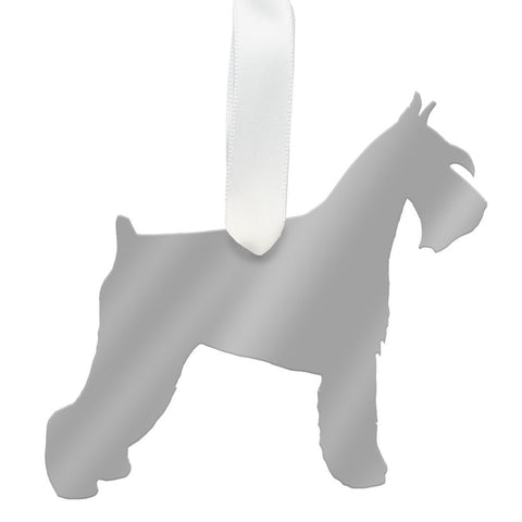 I found this at #moonandlola! - Miniature Schnauzer Ornament Mirrored Gold