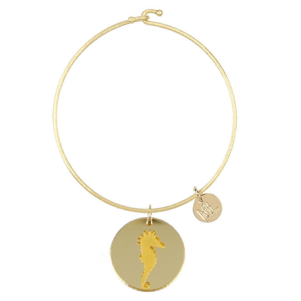 I found this at #moonandlola! - Eden Seahorse Charm Bangle