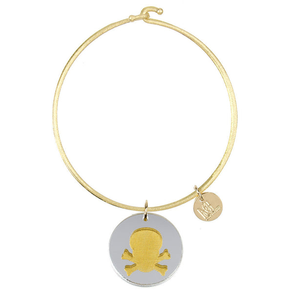 I found this at #moonandlola! - Eden Skull and Crossbones Charm Bangle