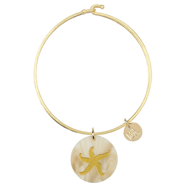 Moon and Lola - Eden Starfish Charm Bangle